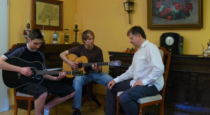 Gitarrenunterricht mit Jugendlichen 2